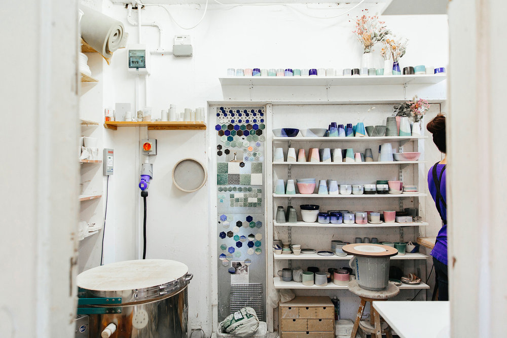 I know these are professional photos so I had a little bit of a clean before the photographer arrived:) but I would say I am a tidy worker:) . I like everything to be organised and in its place. Its a bit of a nightmare if my space is not clean as I can't let the clay get contaminated with any materials hanging around.