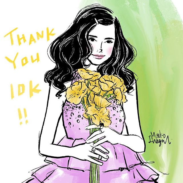 I woke up and I had 10 K! Thank you so so much for supporting me to pursue my passion of illustration everybody! I couldn't get here without you.  I started small and didn't expect my account to grow so fast!! ❤️❤️❤️ Drawing has been a big part of my life since I was little but I actually stopped drawing when I got a real job after graduation. You know you get busy with the new life style and all. My job was Visual Merchandising in Fashion so it still requires creativity and I was enjoying. After a long time working as a VMD, I got a chance to start my illustration career. All I have is the love and appreciation to all of you☺️☺️☺️☺️I will keep pursing my dream and wish to have you all around when I hope to grow more!! Love you ❤️❤️❤️❤️❤️😊😊😊😊😊