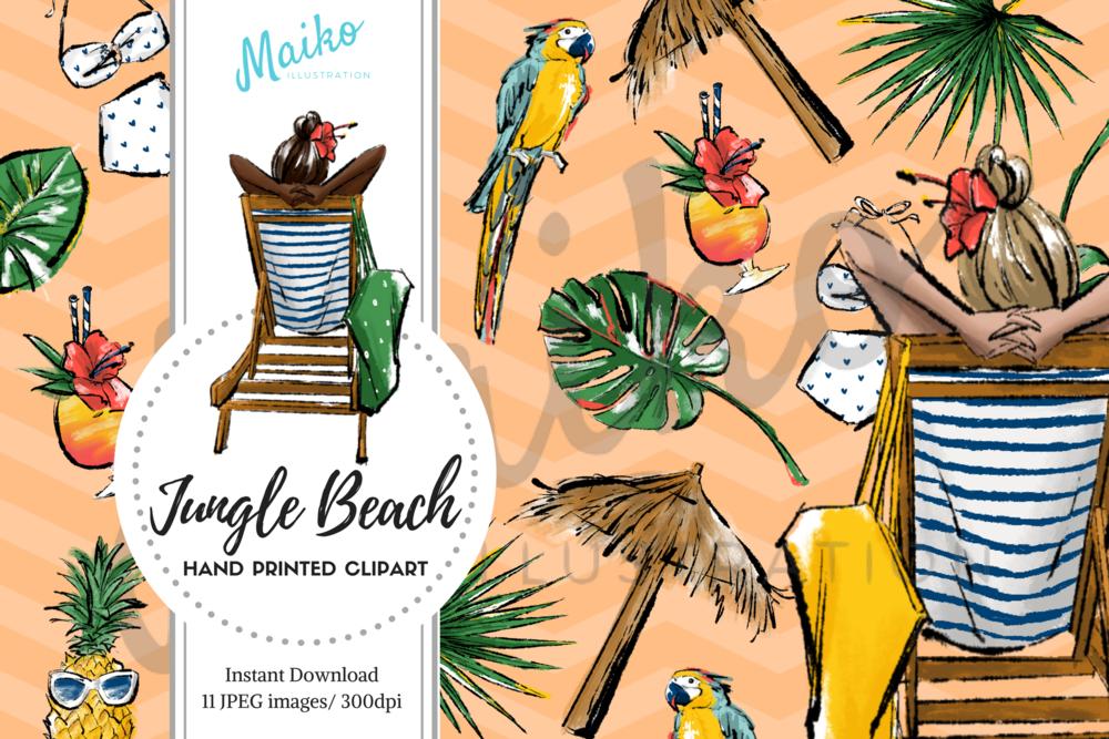 fashion illustrator Jungle Beach