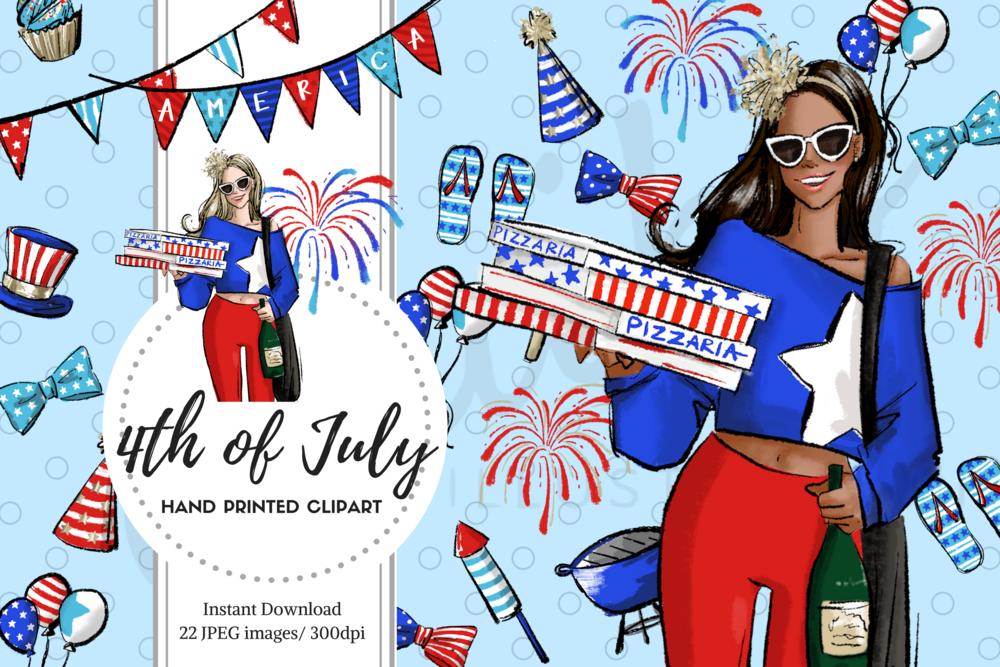 fashion illustrator maiko inagaki 4th of july