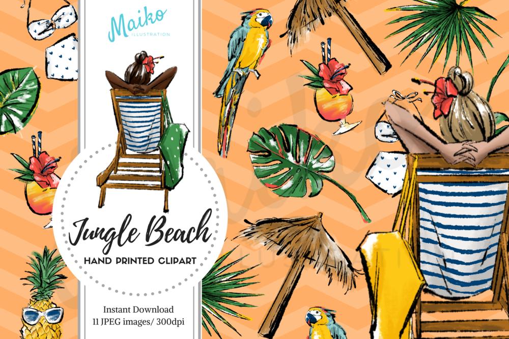 maiko illustration digital paper pack