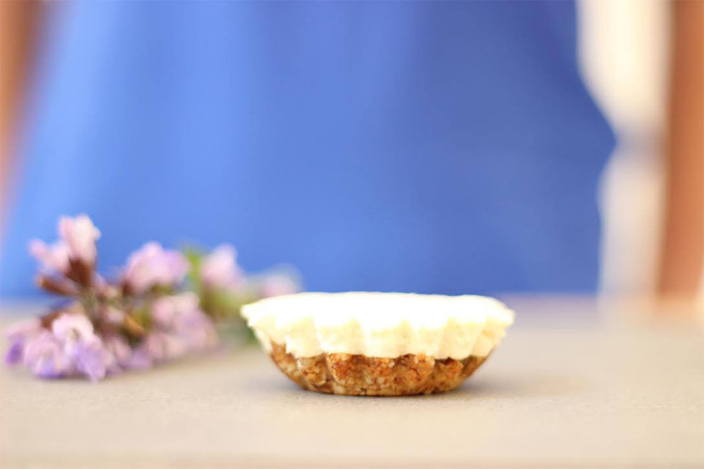 Peanut butter lemon tart