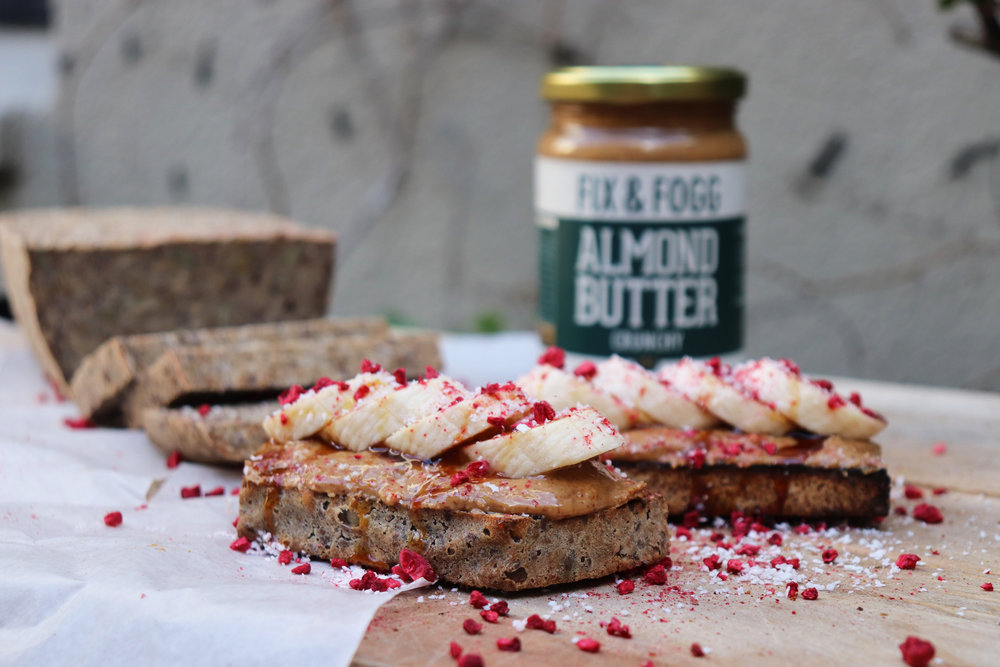 Fix & Fogg Crunchy Almond Butter on toast