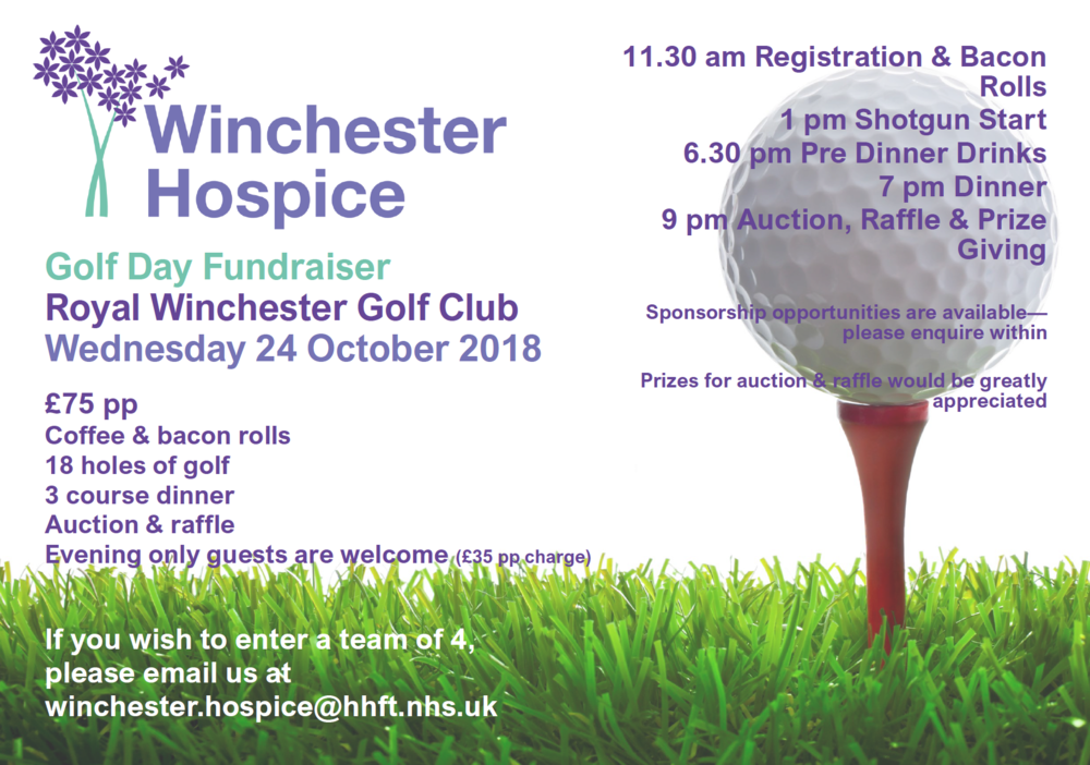Winchester Hospice Golf event
