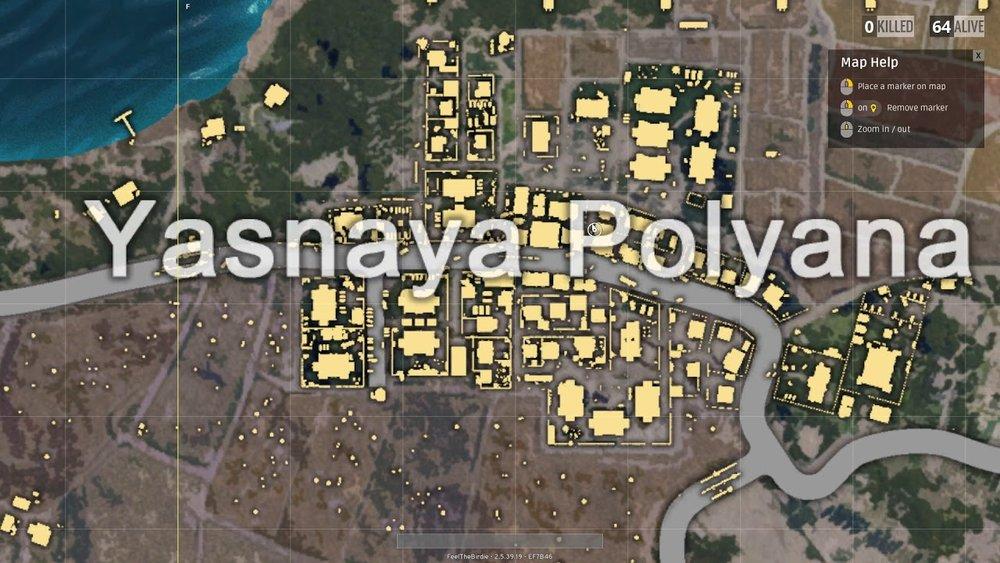 Image result for pubg Yasnaya Polyana on erangel map