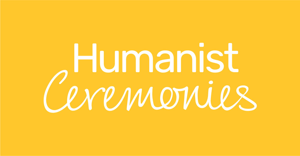 Humanist Ceremonies™ logo in bright yellow
