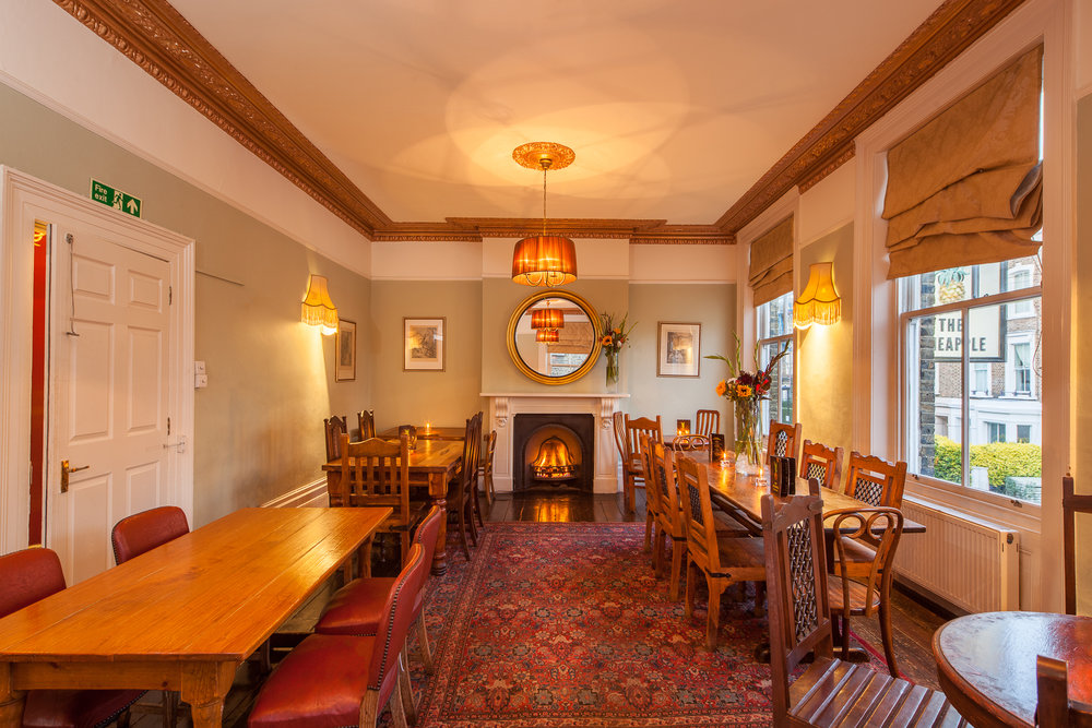 Function room at The Pineapple pub, Kentish Town.