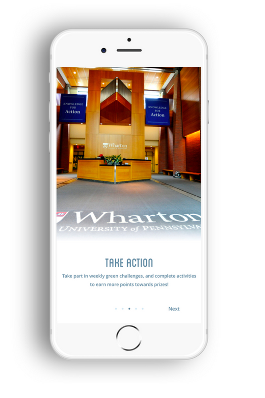 Wharton New User Onboarding Screen : Take Action