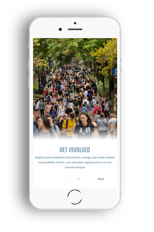 Wharton New User Onboarding Screen: Get Involved