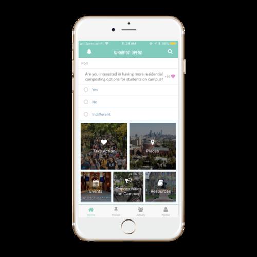 Wharton App HomeScreen 2