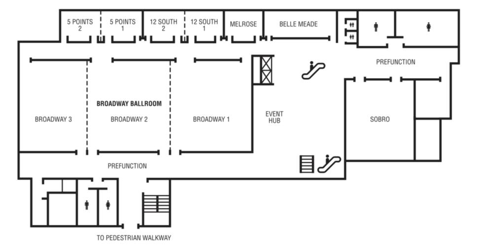 Conference Floorplan at the Renassance Nashville Hotel