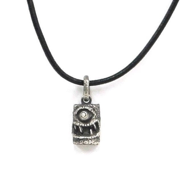 Gearing up for MOTORCITY NIGHTMARES APRIL 27-29th! New pieces will be available! Taking orders now! #gothjewelry #creepy #monster #jewelrydesigner #unique #madeindetroit #cyclops #necklace