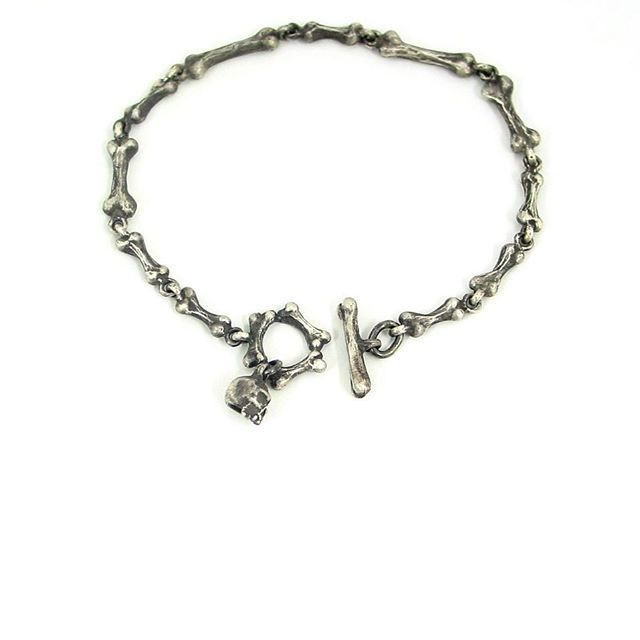 Bone band bracelets available for orders now! Message for pricing! #madeindetroit #bonejewelry #skulljewelry #gothjewelry #bones #skulls #creepy #handmade #jewelry #uniquejewelry #sterlingsilverjewelry