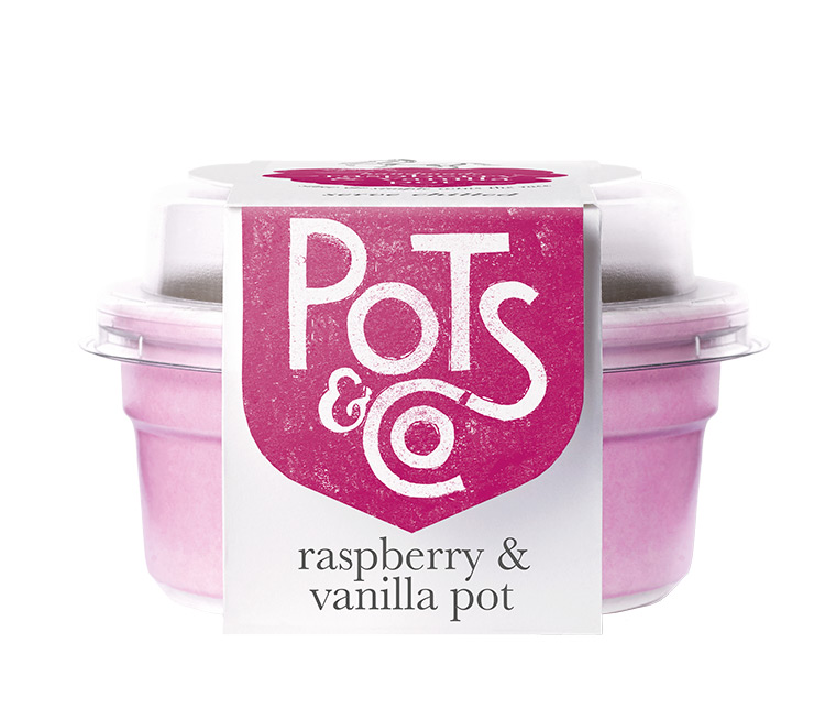 raspberry & vanilla pot