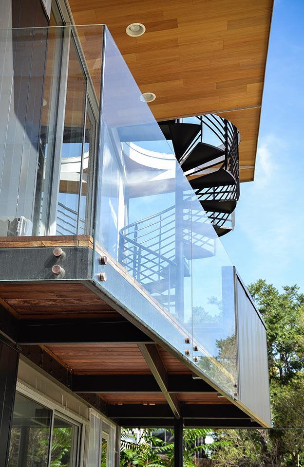Steel and Glass Balcony