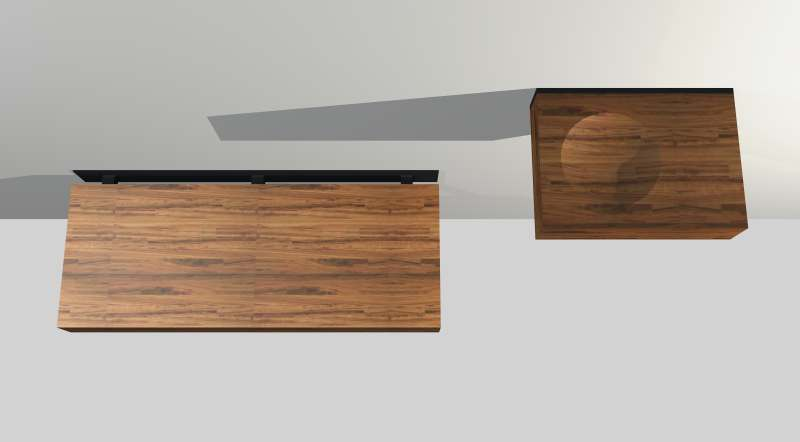 Floating Bench and Shelf