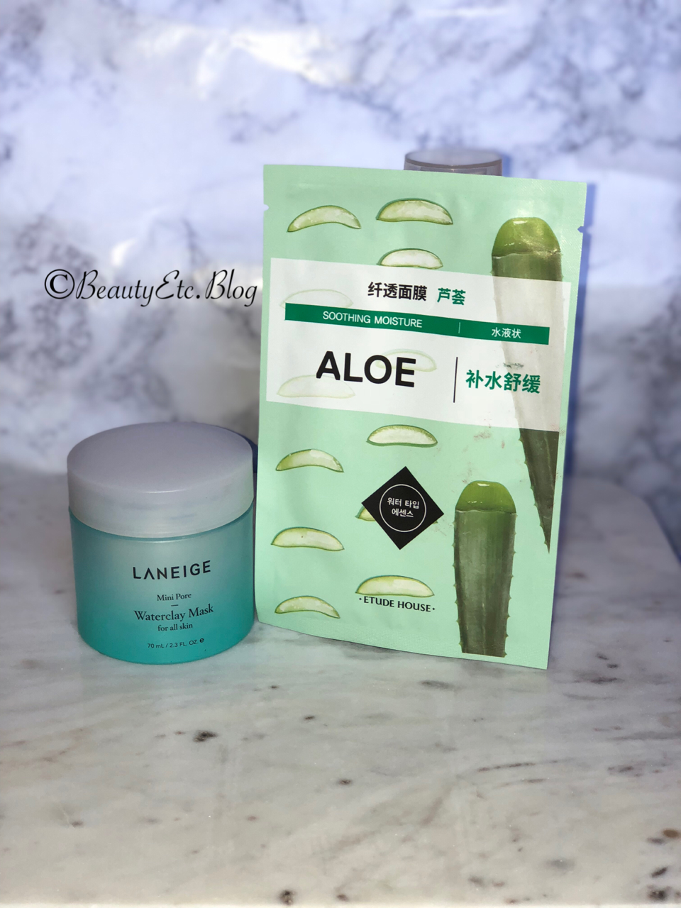 Laniege Mini Pore Water Clay Mask  $25 |   Etude House Sheet Mask $1-$2 per mask