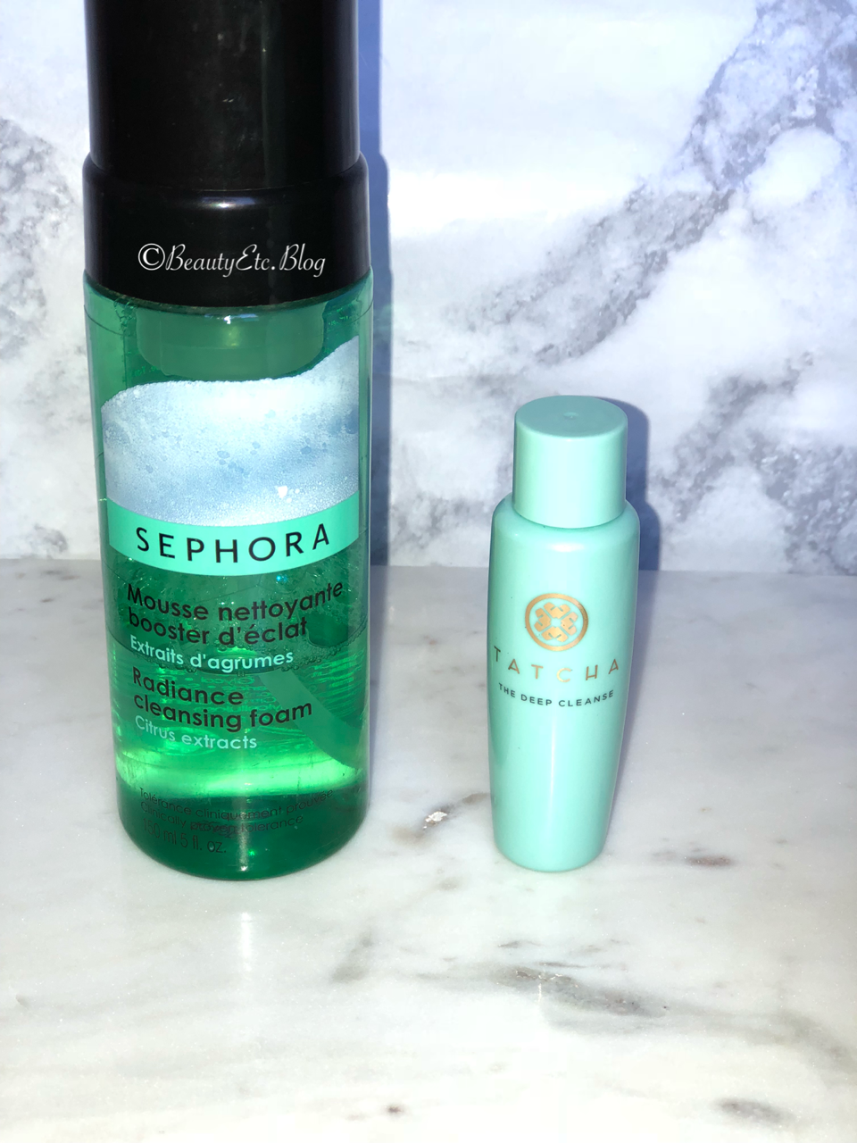 Sephora Collection Radiance Cleansing Foam  $8.00 |  Tatacha Deep Cleanse  (full size) $38.00