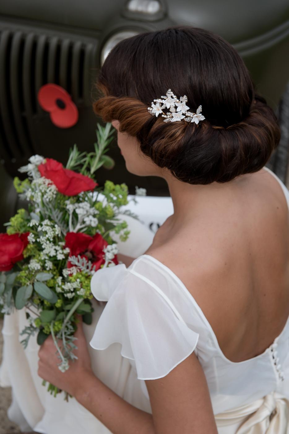 vintage wedding glam hairstyles victory rolls