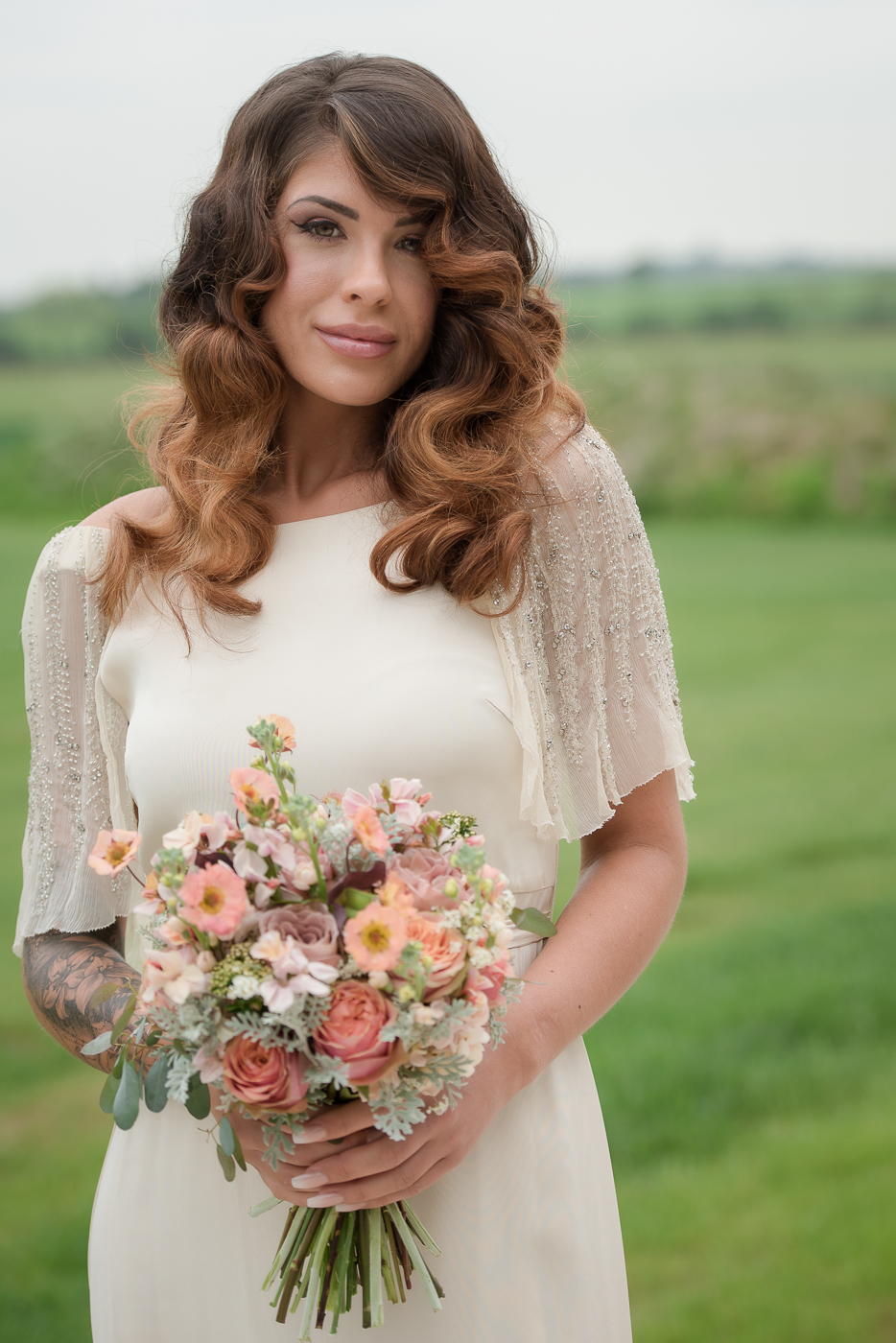 hollywood waves wedding hairstyles