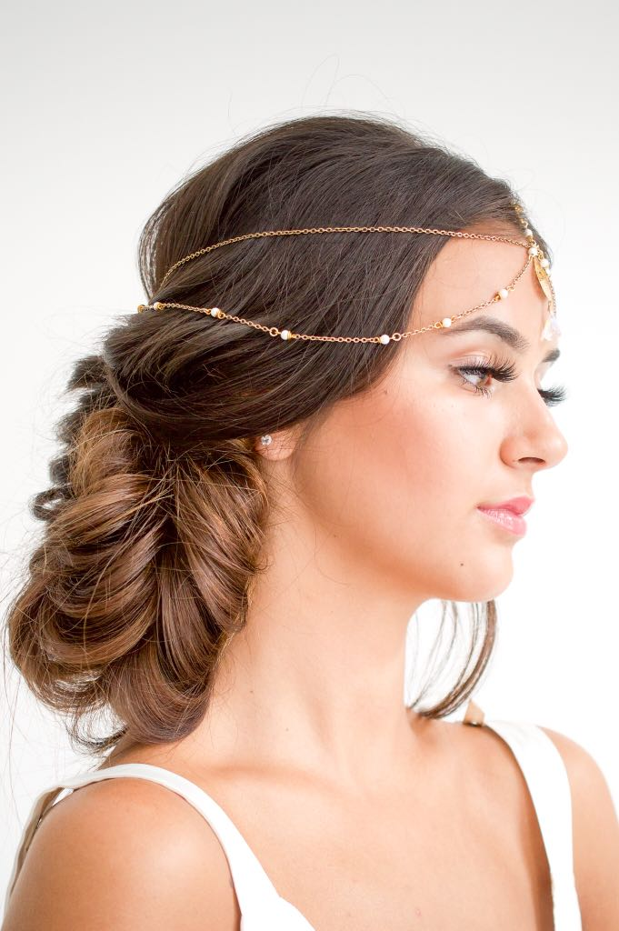 indian wedding hair boho bridal hair
