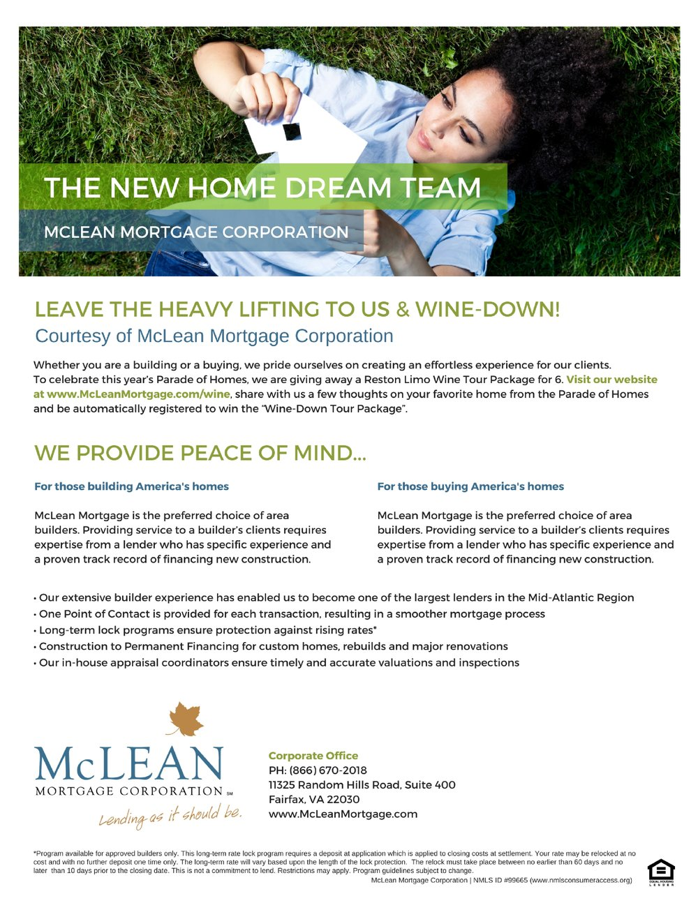 Leave the heavy lifting to us & Wine-down!Courtesy of McLean Mortgage Corporation Whether you are a building or a buying, we pride ourselves on creating an effortless experience for our clients. To celebrate t.jpg