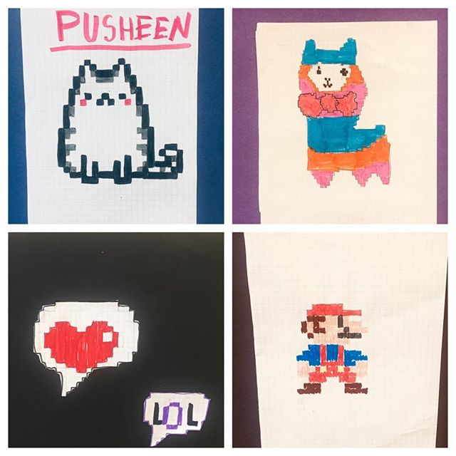 3rd & 4th graders Pixellated Art💠❎
