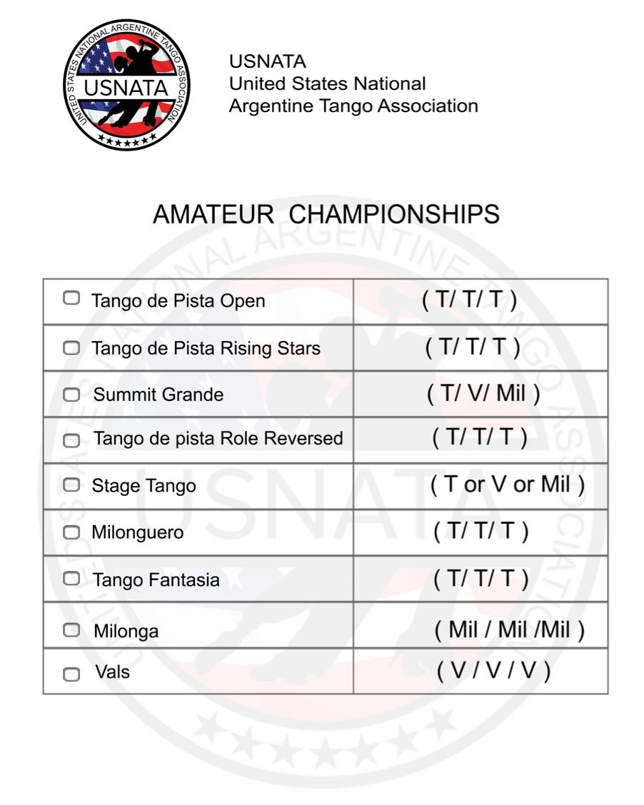 Amateur Usnata United States National Argentine Tango Association Steps Diagram Look At This Championships