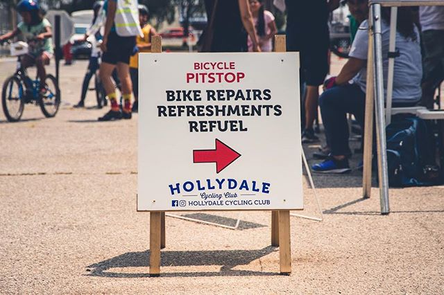 Bike repair by @hollydalecycling! Look for them at the District Eats & Play hub!