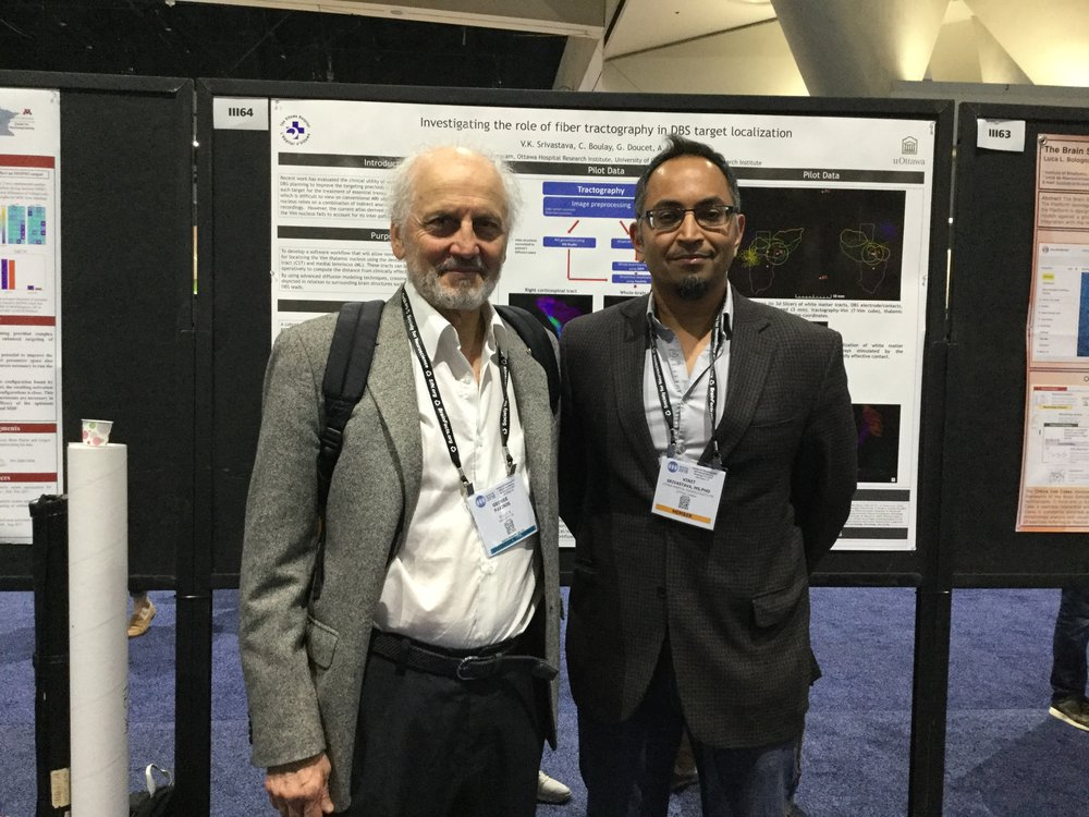 Dr Paxinos (creator of mouse, rat, monkey and human stereotaxic brain atlases) visited our poster at SFN!