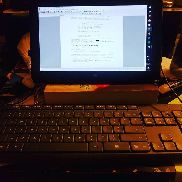 2:15am...Rewrites, Rewrites and more REWRITES!! #thedeliverermovie #DreamBig #Selfmade #writerproducer #trinidadandtobago