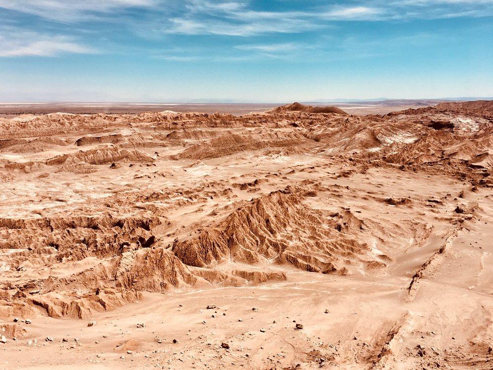 View from La Piedra del Coiote, near  San Pedro de Atacama, Chile .