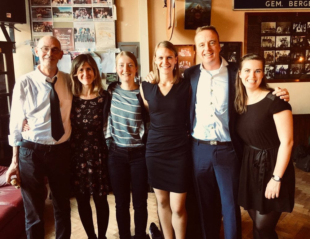 Some of the members of the Dusty Team celebrating the successful PhD defense of Laura!