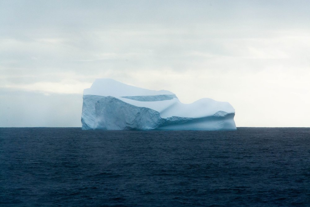 A beautiful iceberg sighted from the ship.