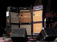 "Uh, yeah...this is actually J Mascis' amp setup. Three Marshall ""full stacks""."