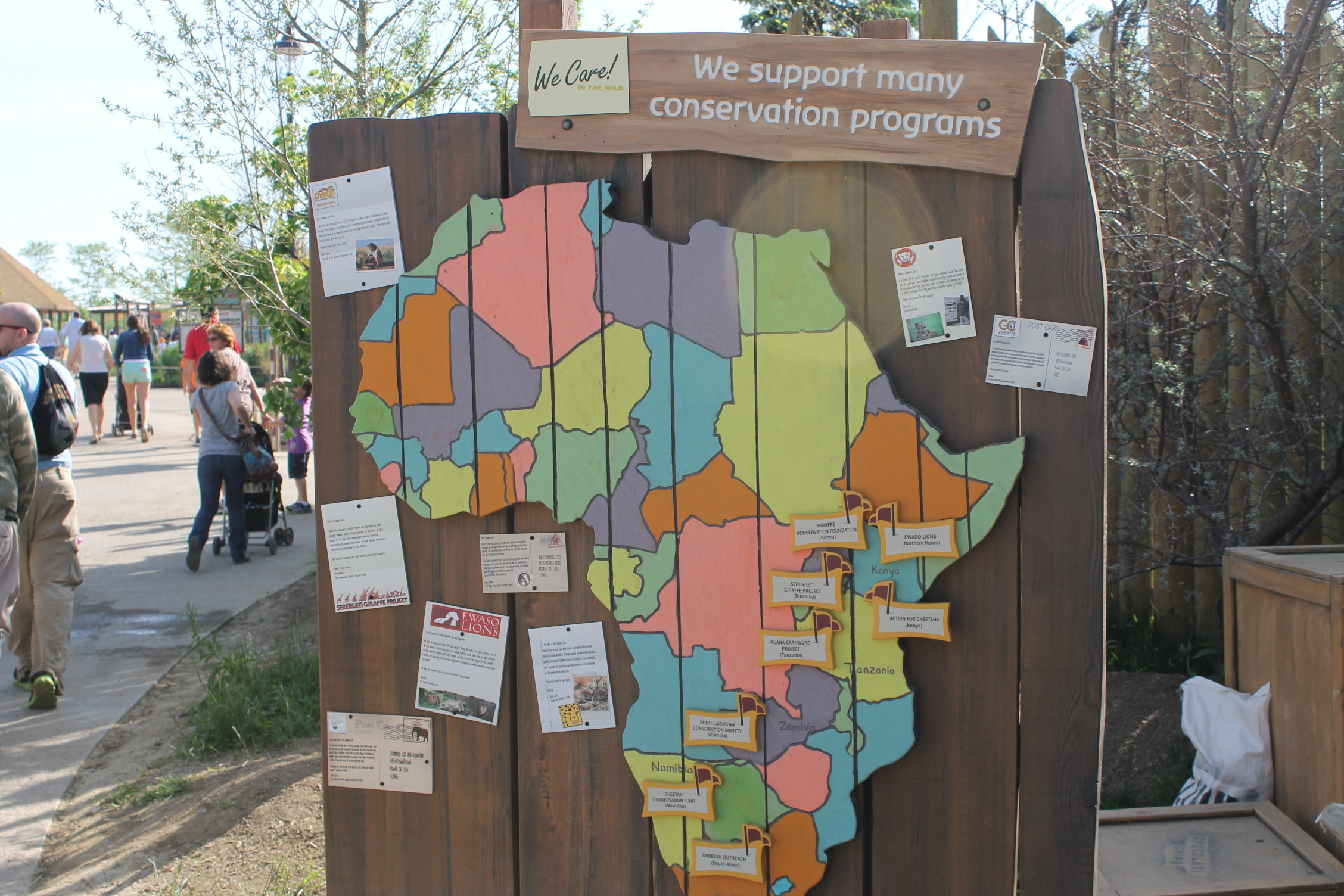 All of the conservation projects represented at Heart of Africa--all of which Columbus Zoo supports.