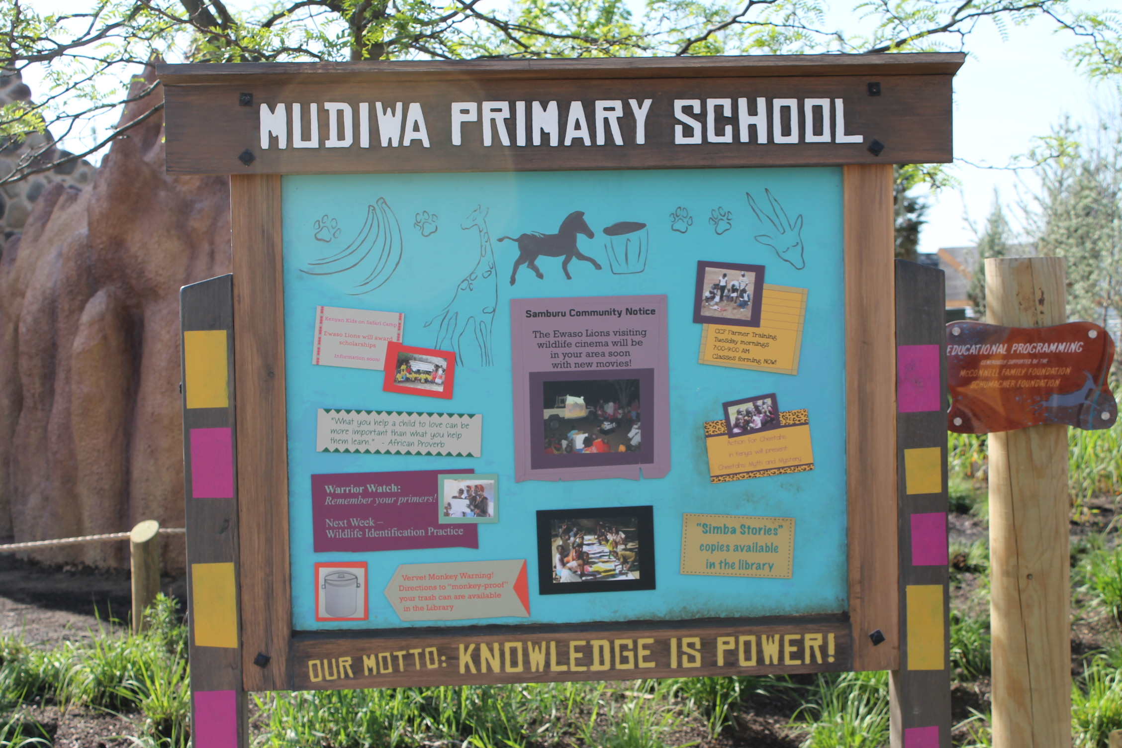 Clever school house bulletin boards touches on some of the conservation programs CZA supports.