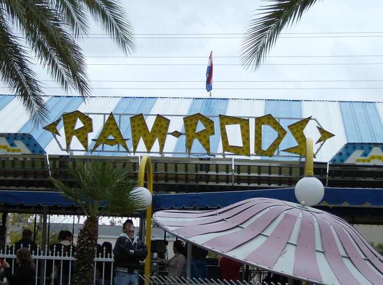Entrance of Ram Rods our version of bumper cars.
