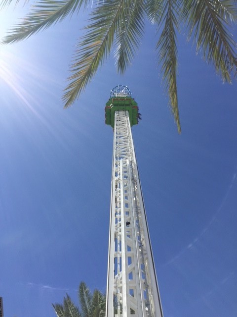 The top of our Sky Divers Ride