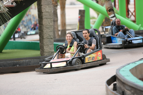 Photo of friends having fun on the Go Karts.