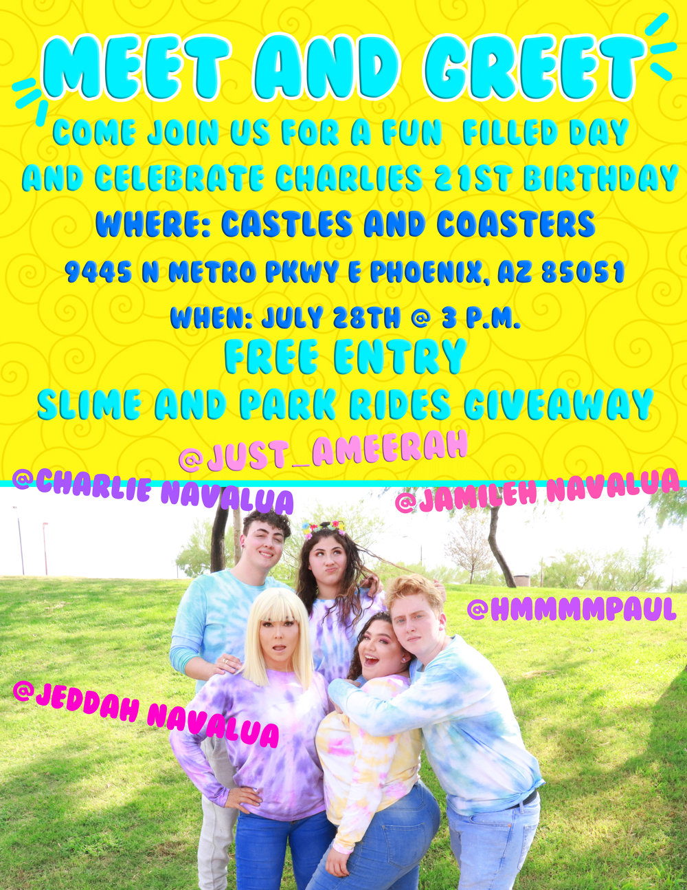 Meet and greet with the navalua family castles n coasters m4hsunfo
