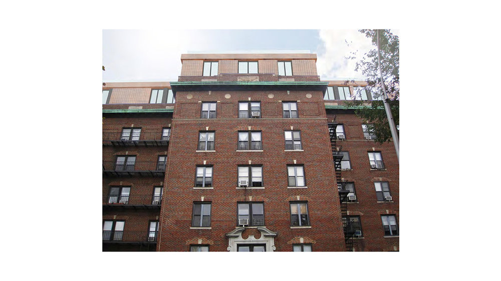 Front view of the exterior brick walls of 31 Ocean Parkway, a residential building in Brooklyn with MEP designed by 2LS Consulting Engineering.