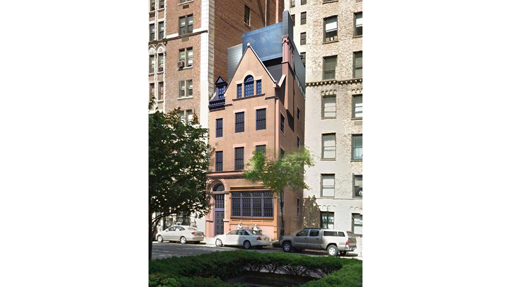Street view rendering of a luxury townhouse with MEP designs by 2L Engineering.