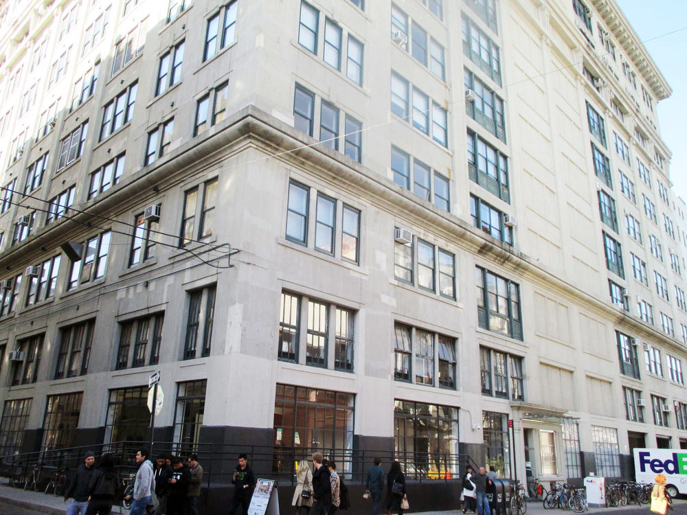 Exterior of the corner of 20 Jay Street, where Heard City, an editing, studio, and office space is located. MEP designed by 2LS Consulting Engineering.