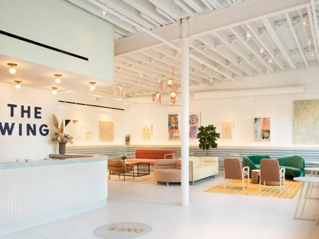 Female co-working club The Wing opens in New York loft - December 4, 2017 | dezeenOnly women are invited to become members of this co-working club in New York, which has opened in Soho to join a location in the Flatiron district.Read More