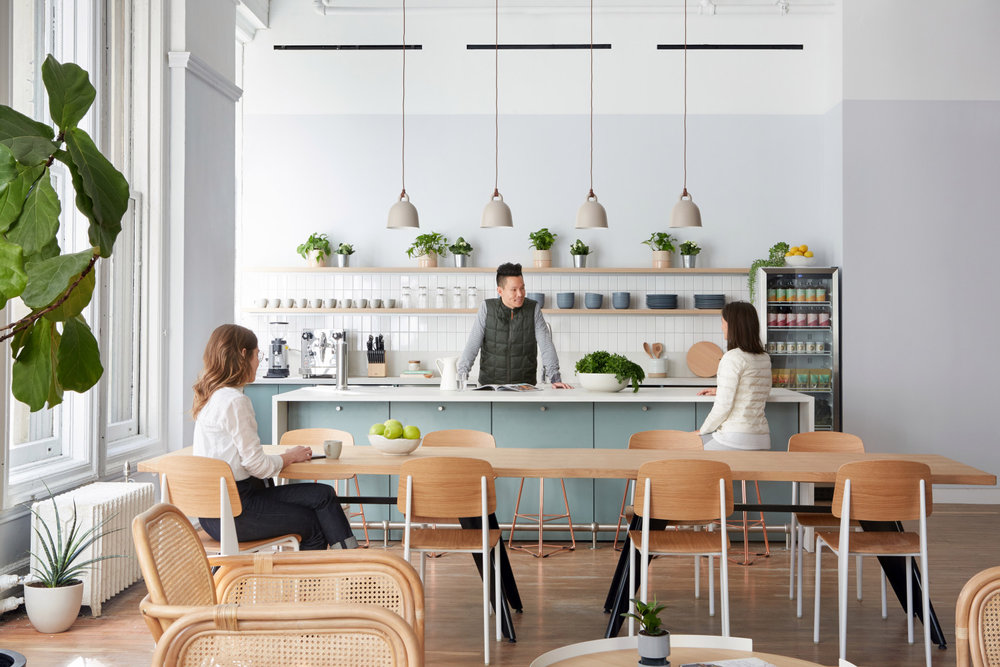 Parsley Health Kitchen Area designed by 2LS Consulting Engineering