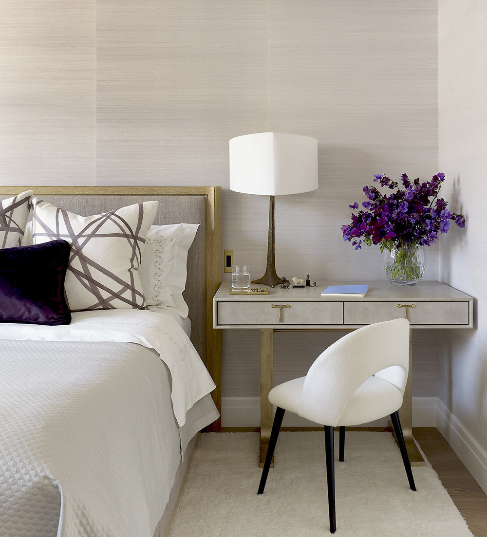 Stonefox 115 East 67th Street Master Bedroom Lamp Sidetable MEP designed by 2LS Consulting Engineering