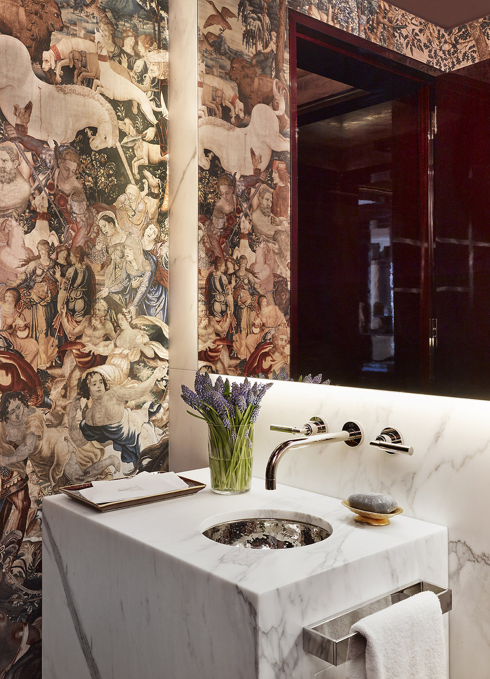 Stonefox 115 East 67th Street Powder Room Bathroom MEP designed by 2LS Consulting Engineering
