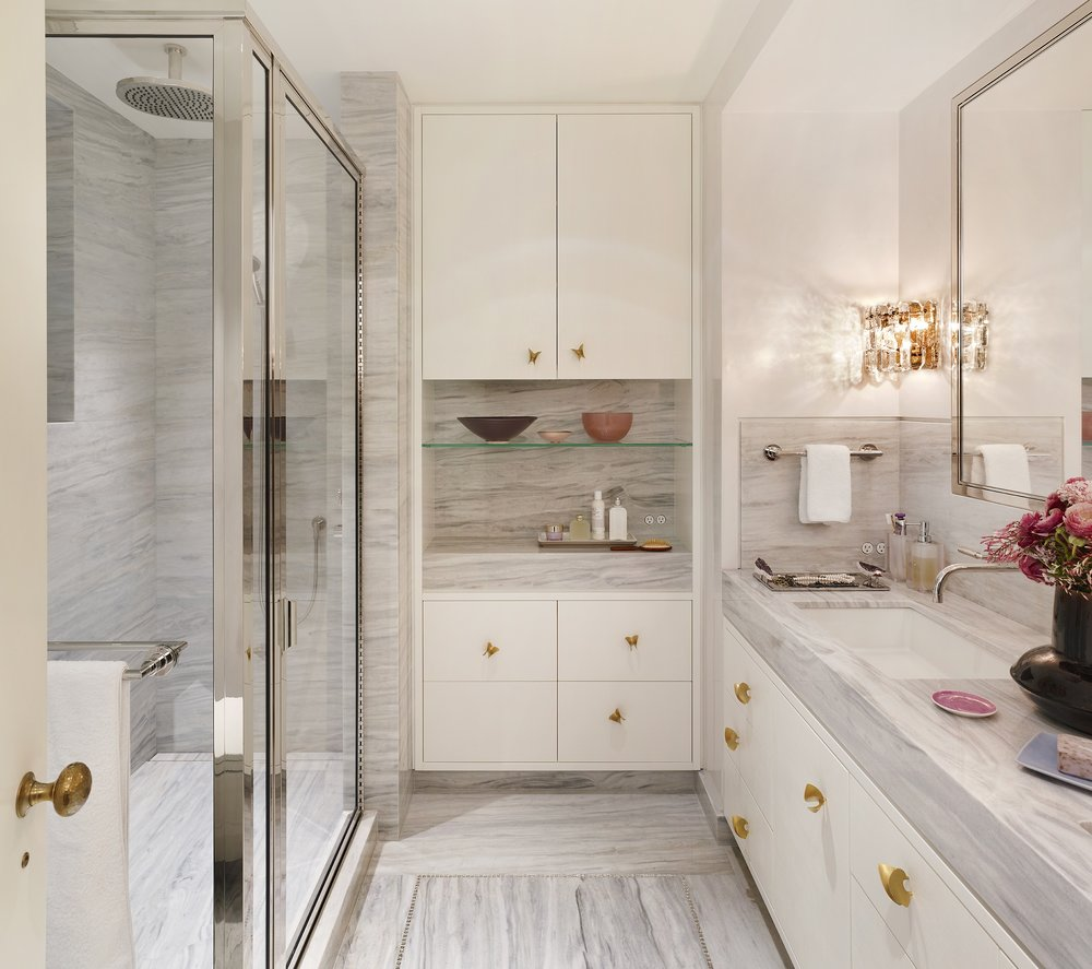 Stonefox 115 East 67th Street Wife's Bathroom MEP designed by 2LS Consulting Engineering