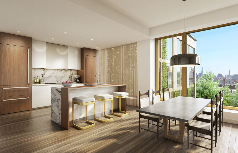 Luxury kitchen at 75 Kenmare with MEP engineering services provided by 2LS